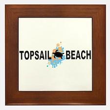 Topsail Beach NC - Seashells Design Framed Tile