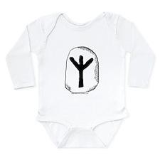 Viking Rune Algiz Long Sleeve Infant Bodysuit