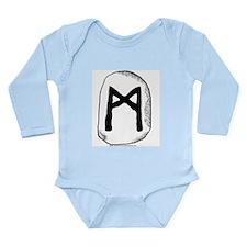 Norse Rune Mannaz Long Sleeve Infant Bodysuit