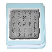 Stone Carved Runes Infant Blanket