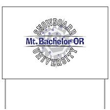 Snowboard Mt. Bachelor OR Yard Sign