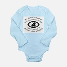 Someone Loses An Eye Long Sleeve Infant Bodysuit