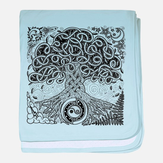 Celtic Tree of Life Ink Infant Blanket