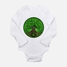 Circle Celtic Tree of Life Long Sleeve Infant Body