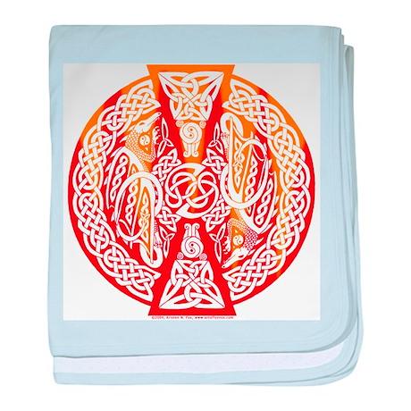 Celtic Knotwork Dragons Fire Infant Blanket