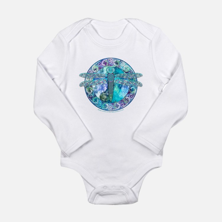 Cool Celtic Dragonfly Long Sleeve Infant Bodysuit