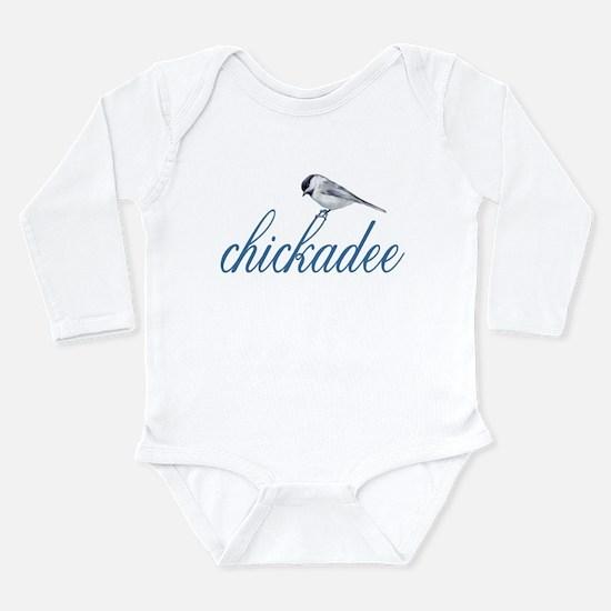 cute lil' chickadee Long Sleeve Infant Bodysuit