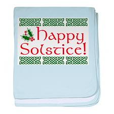 Happy Solstice baby blanket