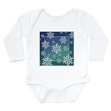 Celtic Snowflakes Long Sleeve Infant Bodysuit
