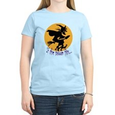 """""""If the broom fits"""" flying wi T-Shirt"""