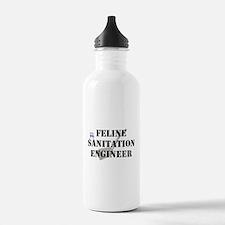 Feline Sanitation Engineer Water Bottle