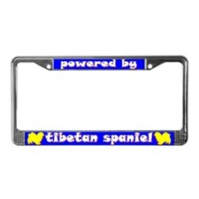 Powered by Tibetan Spaniel License Plate Frame