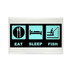 Eat Sleep Fish Rectangle Magnet (10 pack)