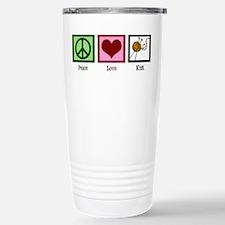 Peace Love Knit Travel Mug