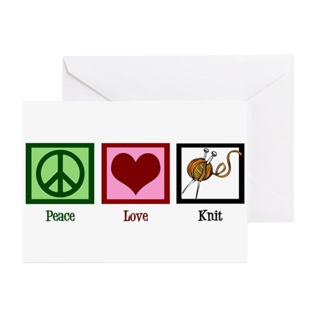 Peace Love Knit Greeting Cards (Pk of 10)