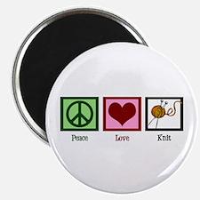 Peace Love Knit Magnet
