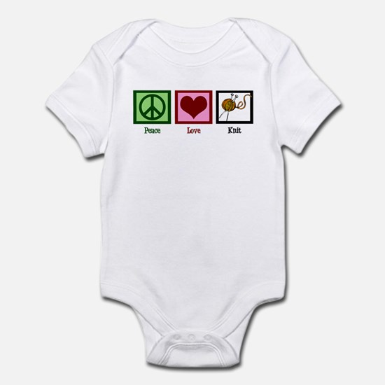 Peace Love Knit Infant Bodysuit
