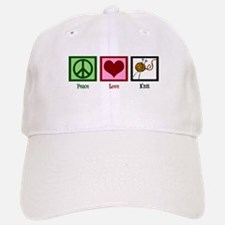 Peace Love Knit Baseball Baseball Cap
