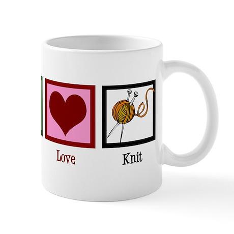 Peace Love Knit Mug