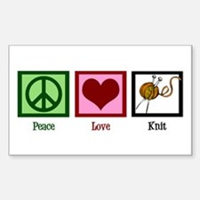 Peace Love Knit Decal
