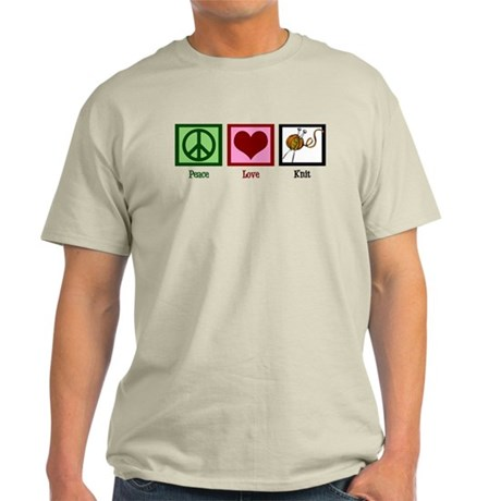 Peace Love Knit Light T-Shirt