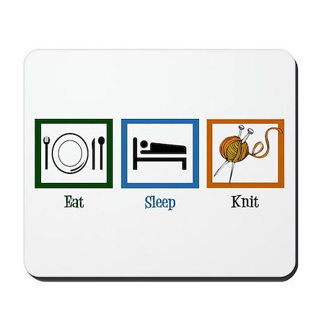 Eat Sleep Knit Mousepad