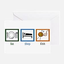 Eat Sleep Knit Greeting Card