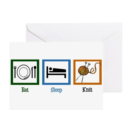 Eat Sleep Knit Greeting Cards (Pk of 20)