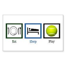 Eat Sleep Tennis Decal