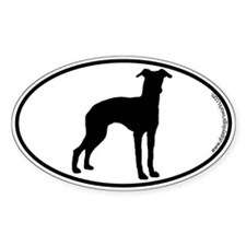 Italian Greyhound SILHOUETTE Oval Decal