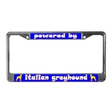 Powered by Italian Greyhound License Plate Frame