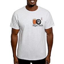Night Shift Logo 10 T-Shirt Design Front Poc