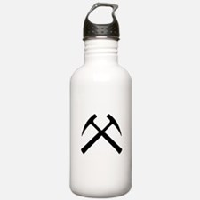 Crossed Rock Hammers Water Bottle