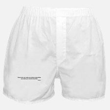 "Voltaire quote - ""atrocities"" Boxer Shorts"