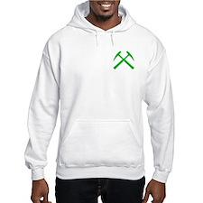 Green Crossed Rock Hammers Hoodie