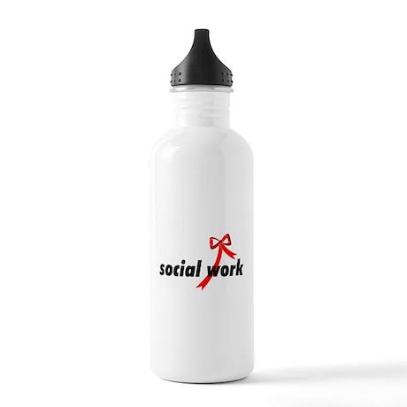 Social Work Ribbon Stainless Water Bottle 1.0L