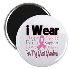 "Great Grandma Breast Cancer 2.25"" Magnet (100 pack"