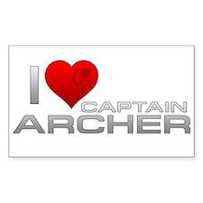 I Heart Captain Archer Decal