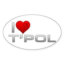 I Heart T'Pol Decal