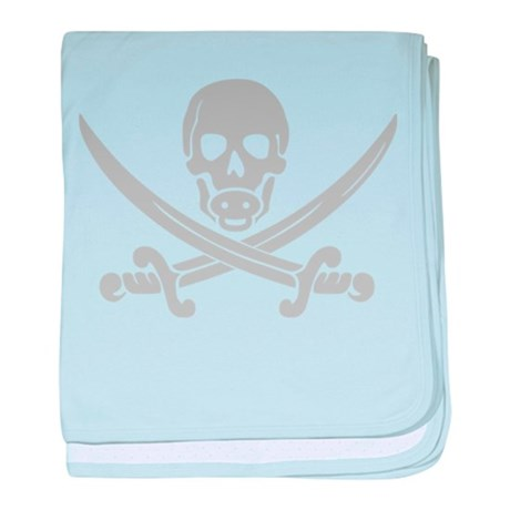 Pirate Baby Gray Infant Blanket