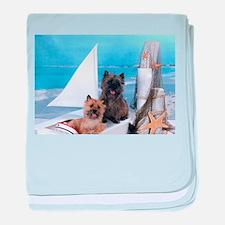 Cairn Terrier Boat Boys baby blanket