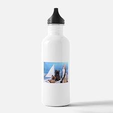 Cairn Terrier Boat Boy Water Bottle