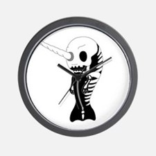 Skeleton Narwhal Wall Clock