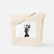 Skeleton Narwhal Tote Bag