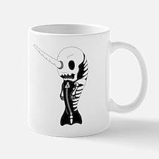Skeleton Narwhal Mug