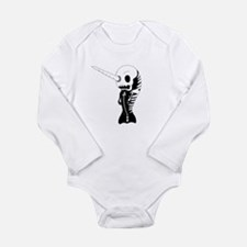 Skeleton Narwhal Long Sleeve Infant Bodysuit