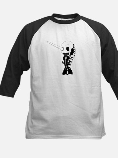 Skeleton Narwhal Kids Baseball Jersey