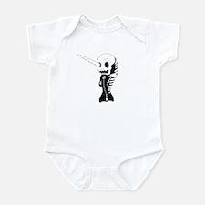 Skeleton Narwhal Infant Bodysuit