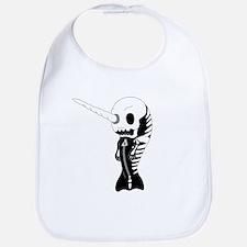 Skeleton Narwhal Bib