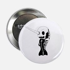 "Skeleton Narwhal 2.25"" Button"